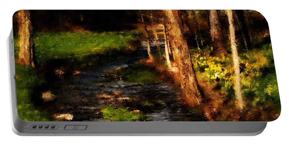 Digital Photo Portable Battery Charger featuring the photograph Country Stream by David Lane