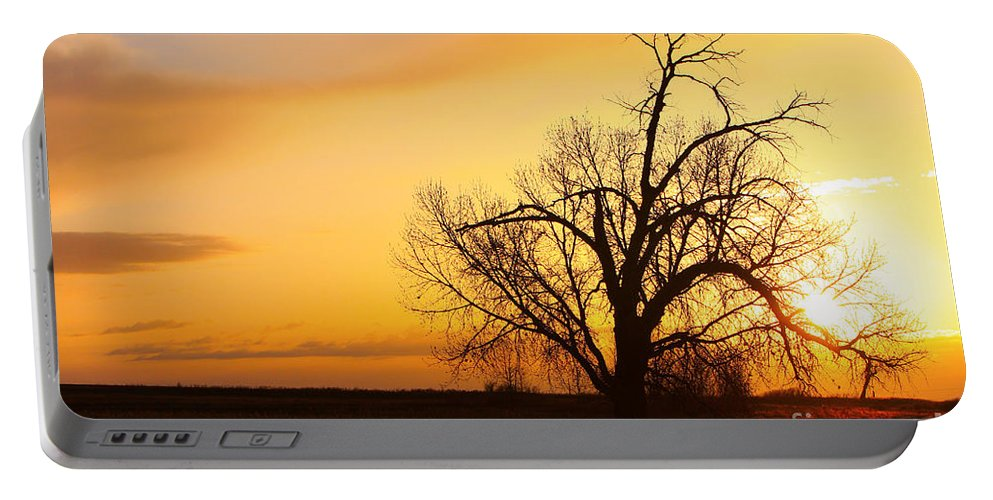 Sunrise Portable Battery Charger featuring the photograph Country Sunrise by James BO Insogna