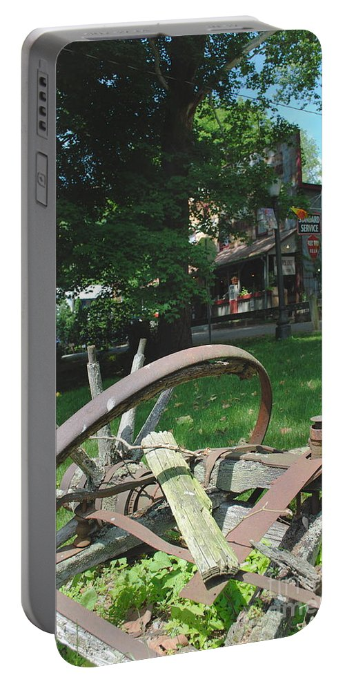 Country Portable Battery Charger featuring the photograph Country Wagon by Jost Houk