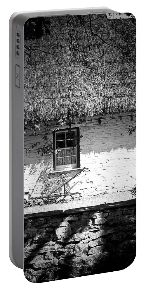 Irish Portable Battery Charger featuring the photograph County Clare Cottage Ireland by Teresa Mucha