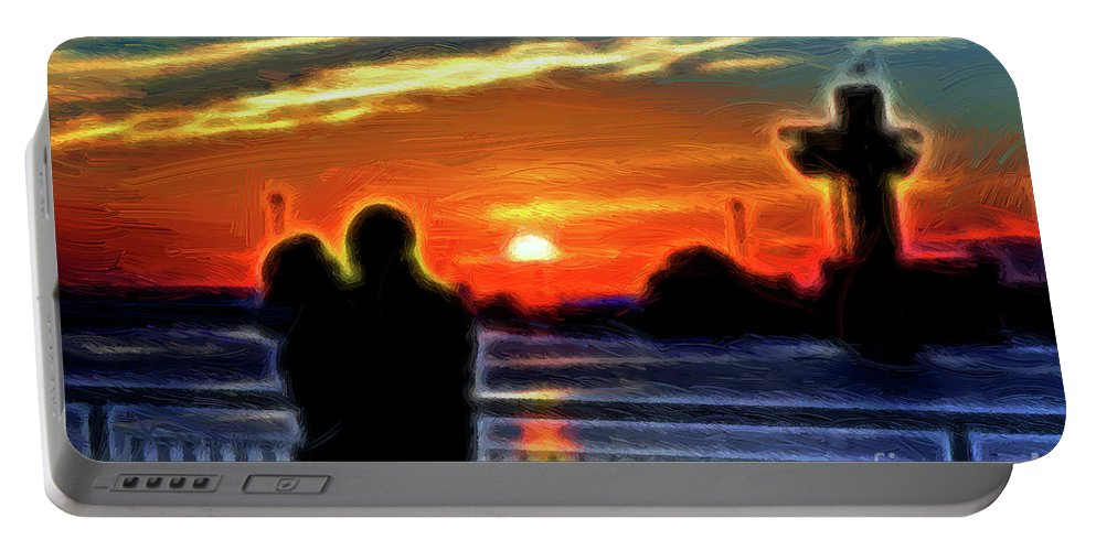 Odessa Portable Battery Charger featuring the photograph Romantic Sunrise. by Viktor Birkus