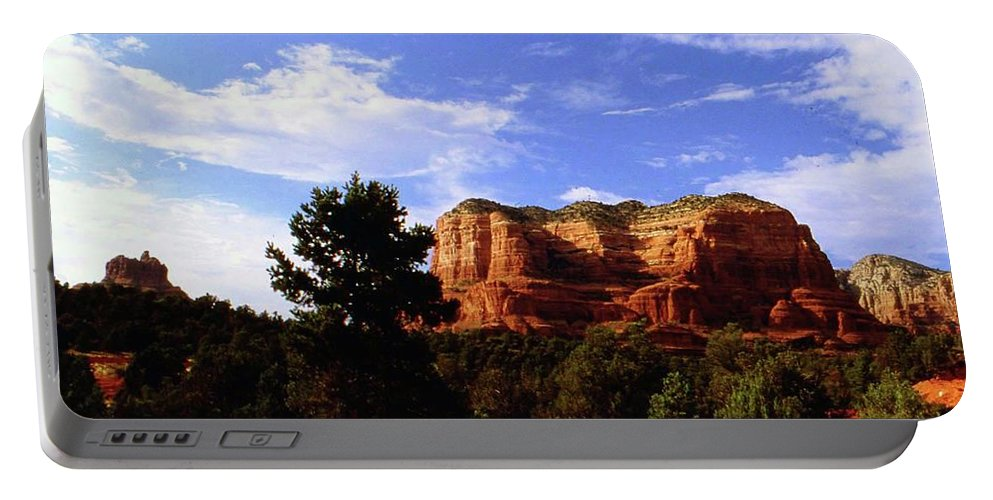 Arizona Portable Battery Charger featuring the photograph Courthous Butte by Gary Wonning
