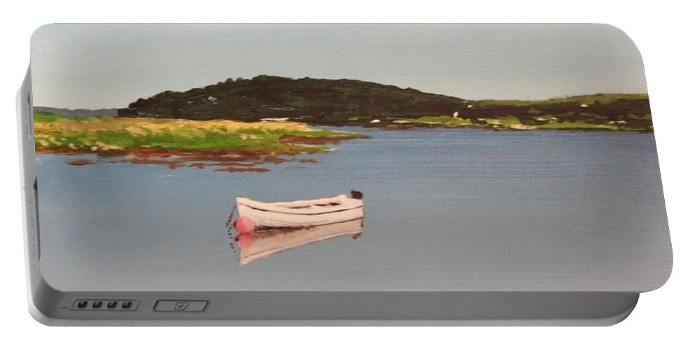 Seascape Portable Battery Charger featuring the painting Courtmacsherry Bay by Tony Gunning