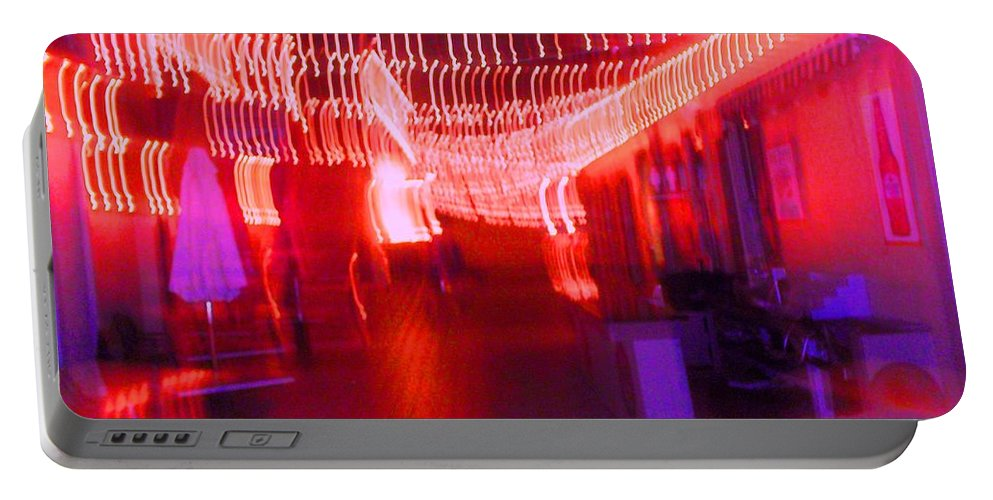 Photograph Portable Battery Charger featuring the photograph Courtside Lounge 2 by Thomas Valentine
