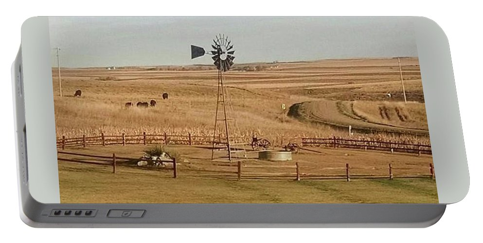 Portable Battery Charger featuring the photograph Coutryside by Donna Martin