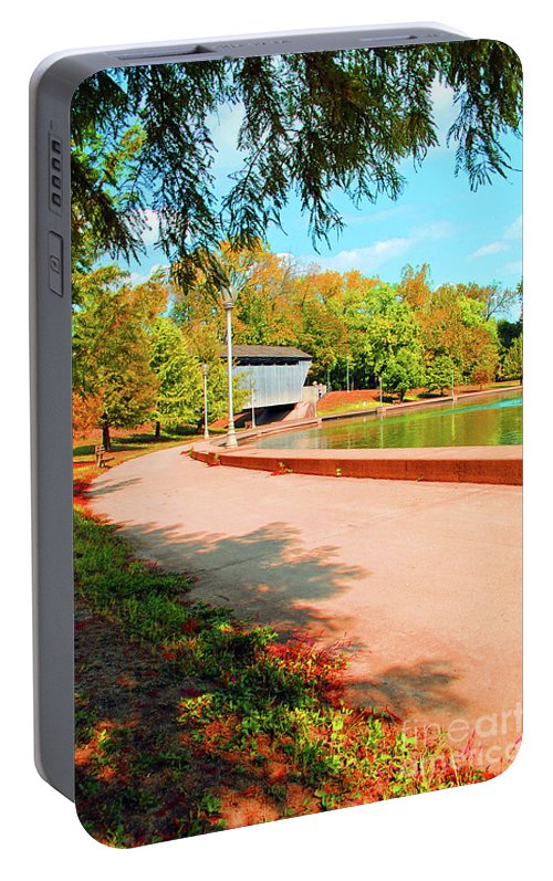 Covered Portable Battery Charger featuring the photograph Covered Bridge by Jost Houk