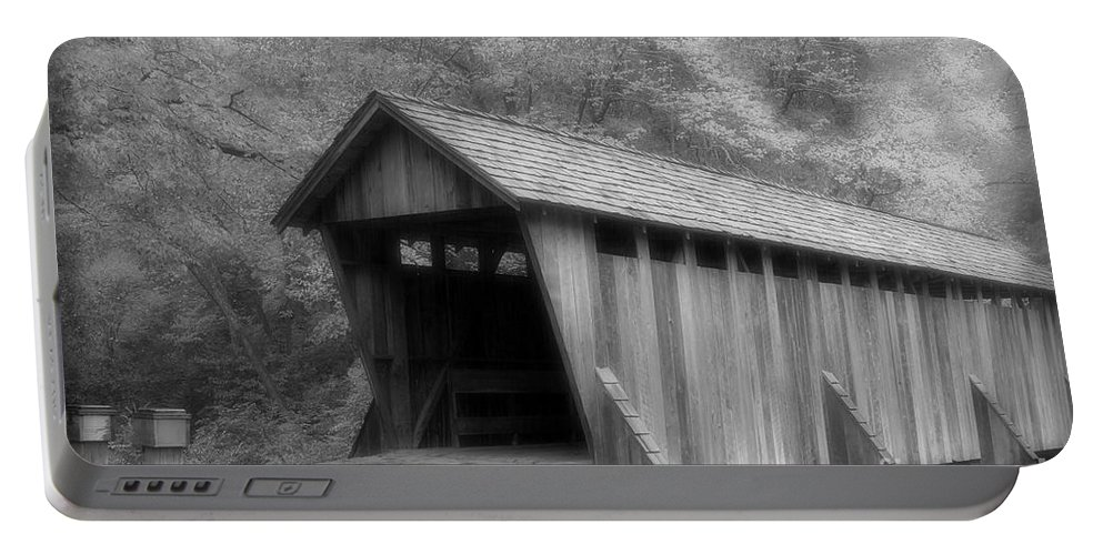 Covered Bridge Portable Battery Charger featuring the photograph Covered Bridge by Karol Livote