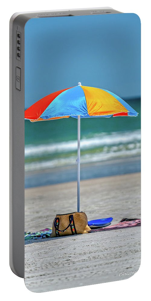 Umbrella Portable Battery Charger featuring the photograph Covered by Christopher Holmes
