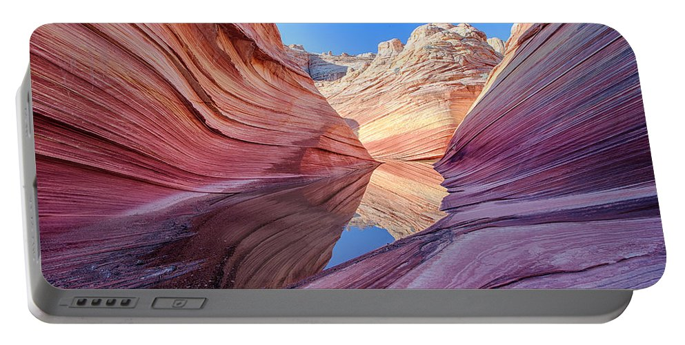 Sunset Portable Battery Charger featuring the photograph Coyote Buttes 5 by Ingrid Smith-Johnsen