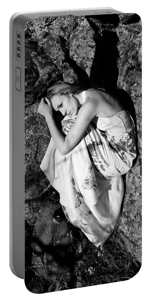 Woman Portable Battery Charger featuring the photograph Cracked by Scott Sawyer