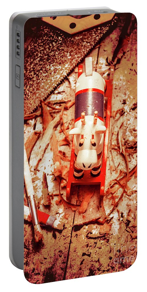 Xmas Portable Battery Charger featuring the photograph Crafting Christmas Presents by Jorgo Photography - Wall Art Gallery