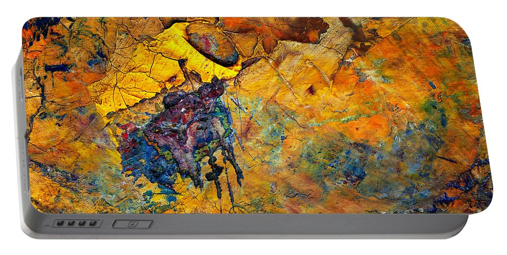 Detail Portable Battery Charger featuring the painting Craftsmanship by Michal Boubin
