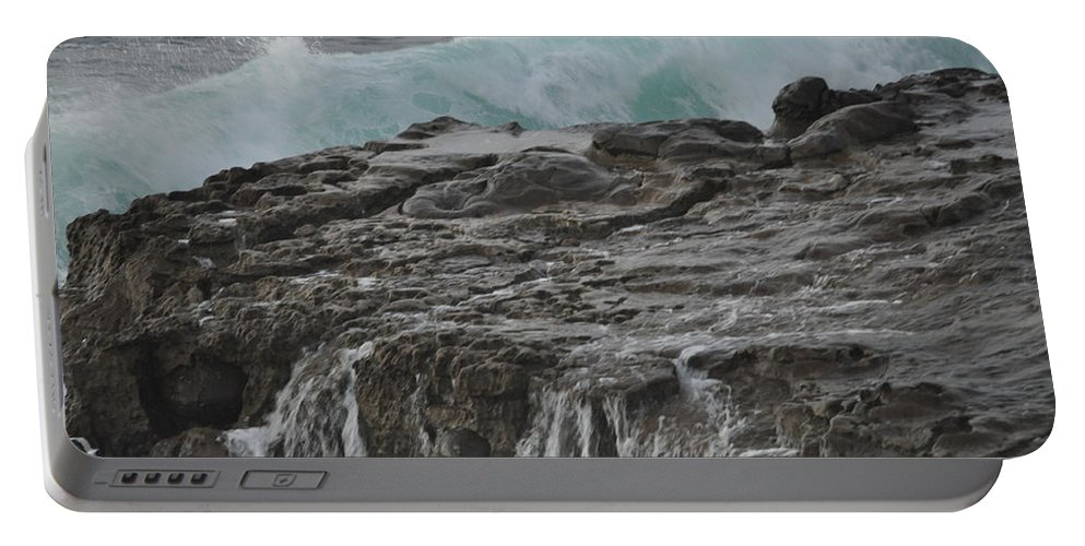 Waves Portable Battery Charger featuring the photograph Crashing Wave by Bridgette Gomes