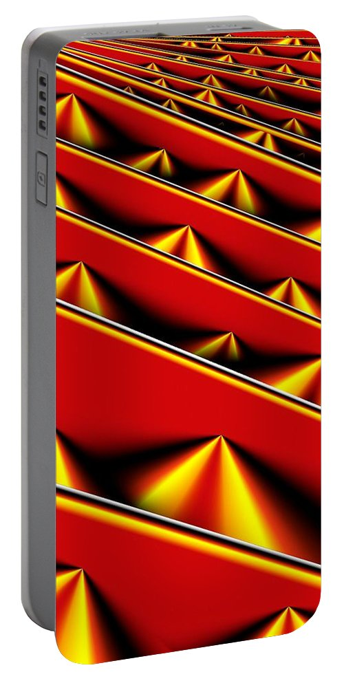 Abstract Portable Battery Charger featuring the digital art Crated by Ron Bissett