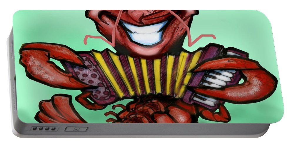 Crawfish Portable Battery Charger featuring the digital art Crawfish by Kevin Middleton