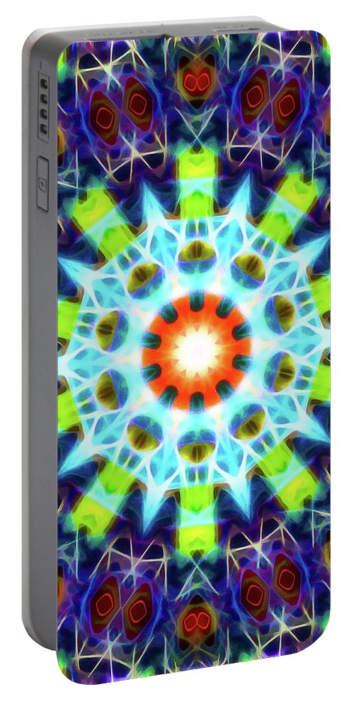 Mandala Art Portable Battery Charger featuring the painting Creation by Jeelan Clark
