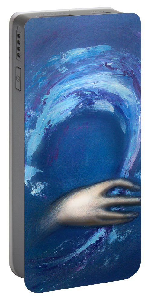 Creative Portable Battery Charger featuring the painting Creative Inspiration by Kevin Middleton
