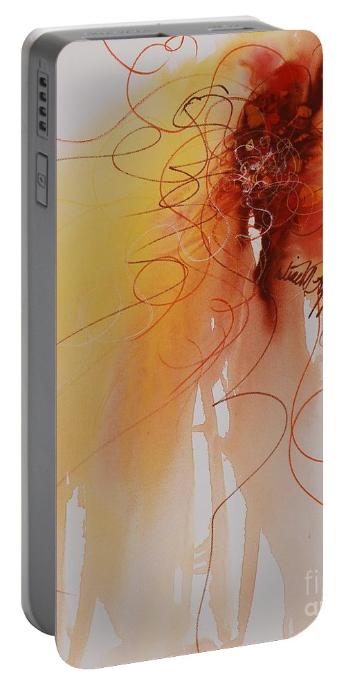 Creativity Portable Battery Charger featuring the painting Creativity by Nadine Rippelmeyer