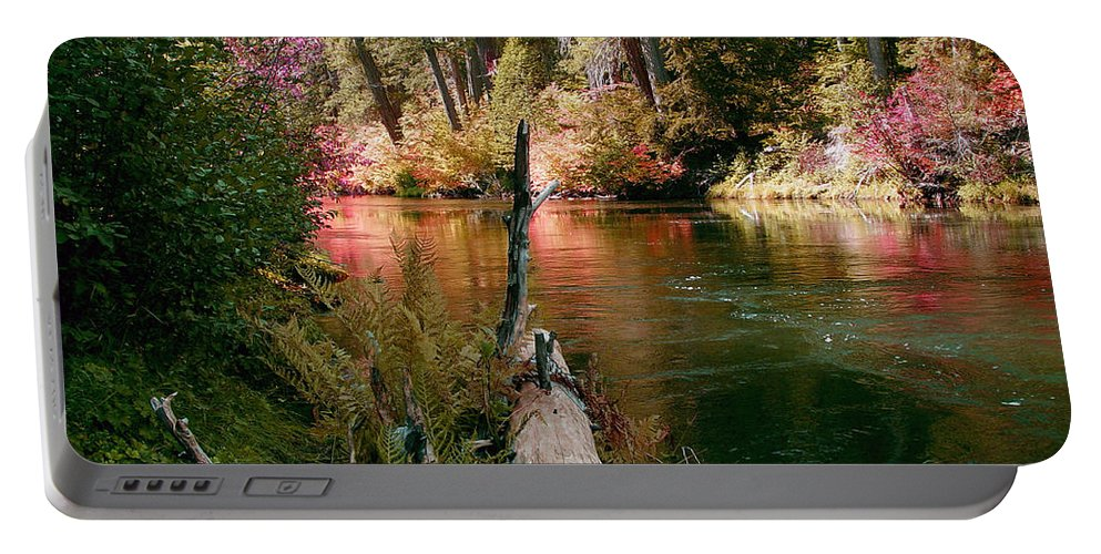 Fall Season Portable Battery Charger featuring the photograph Creek Fall by Peter Piatt