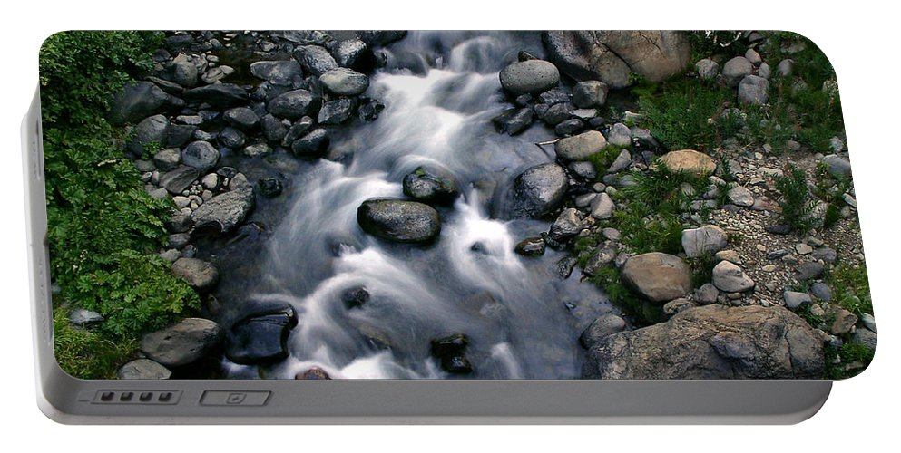 Creek Portable Battery Charger featuring the photograph Creek Flow by Peter Piatt