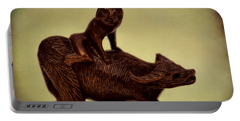 Labs Portable Battery Charger featuring the photograph Creepy Things On The Mantel 5 by Joe Geraci