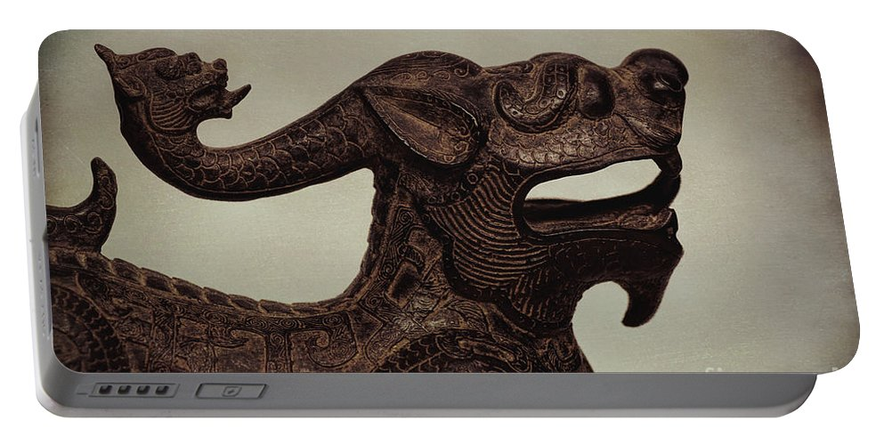 Labs Portable Battery Charger featuring the photograph Creepy Things On The Mantel 6 by Joe Geraci