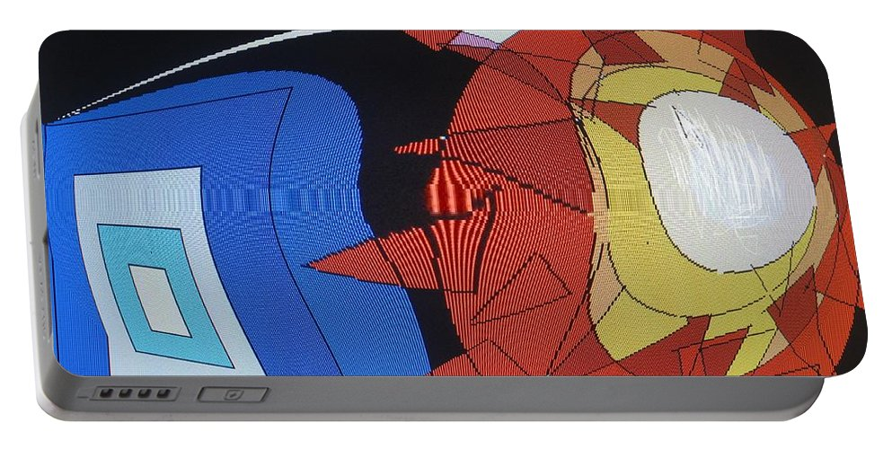Abstract Portable Battery Charger featuring the digital art Crescendo One by Ian MacDonald