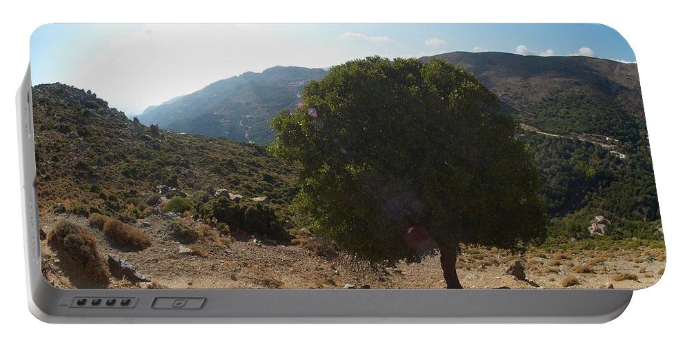 Clouds Portable Battery Charger featuring the photograph Crete Inland View by Jouko Lehto