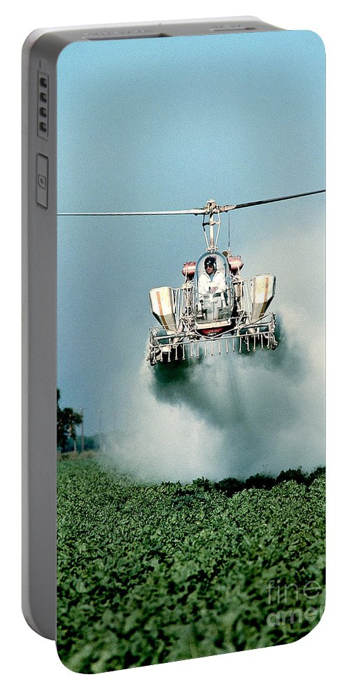 Agriculture Portable Battery Charger featuring the photograph Cropdusting by Inga Spence