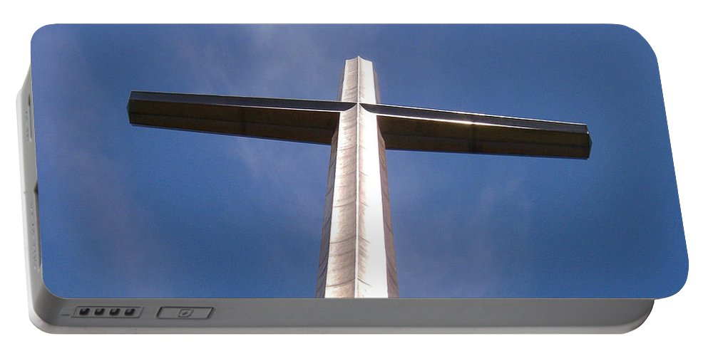 Cross Portable Battery Charger featuring the photograph Cross At St. Augustine by Kenneth Albin