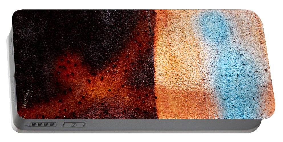 Abstract Portable Battery Charger featuring the photograph Cross Roads by Bob Orsillo