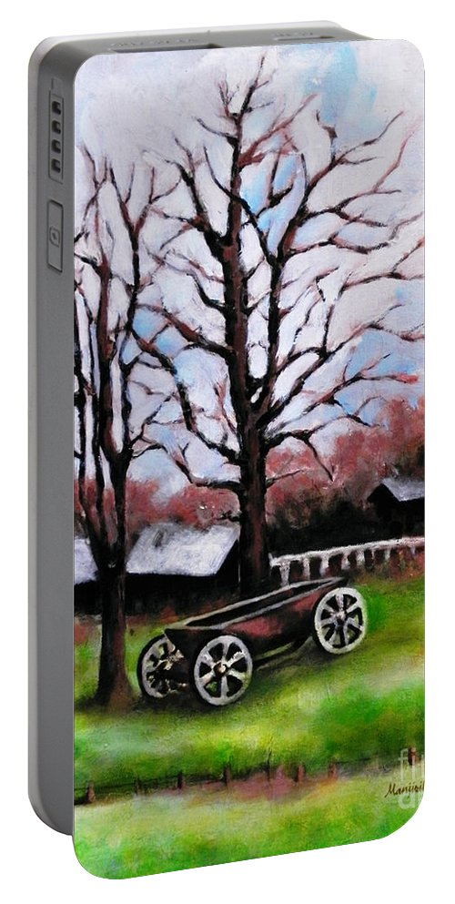 Nature Portable Battery Charger featuring the painting Crossroads by Gallery Hermana