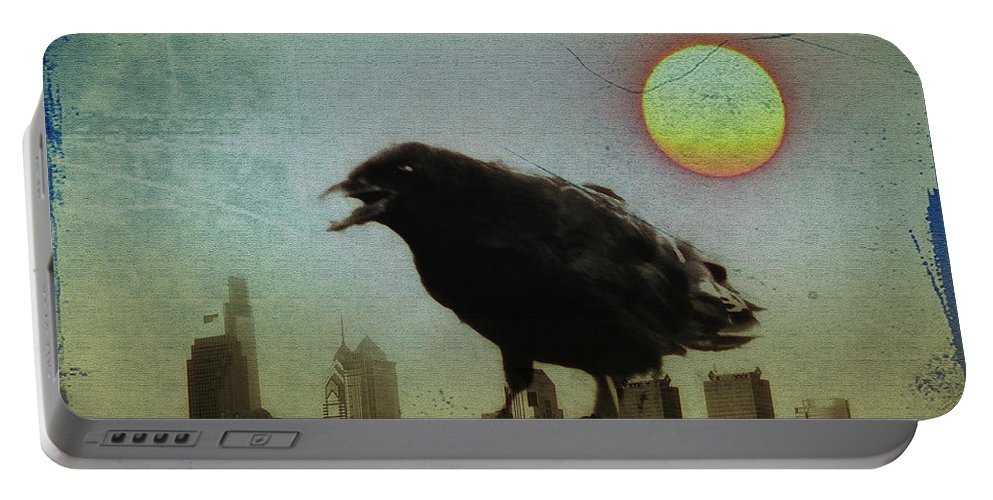 Crow Portable Battery Charger featuring the photograph Crowzilla by Bill Cannon