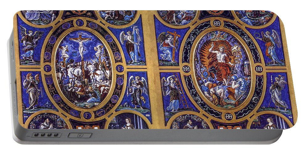 L�onard Limosin Portable Battery Charger featuring the photograph Crucifixion And Resurrection by Roy Pedersen