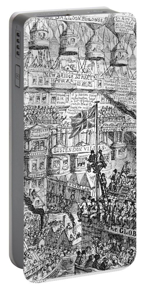 1851 Portable Battery Charger featuring the photograph Cruikshank: London, 1851 by Granger