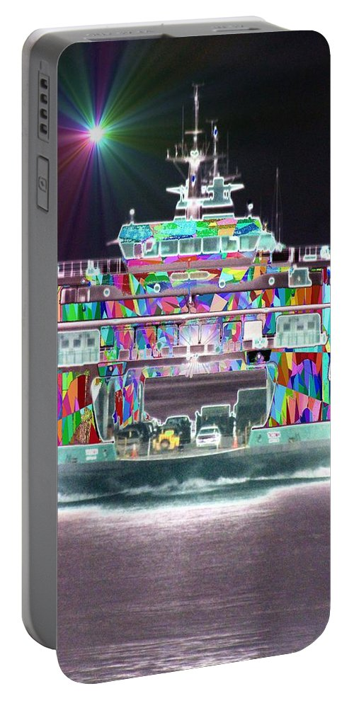 Abstract Portable Battery Charger featuring the photograph Cruisin by Tim Allen
