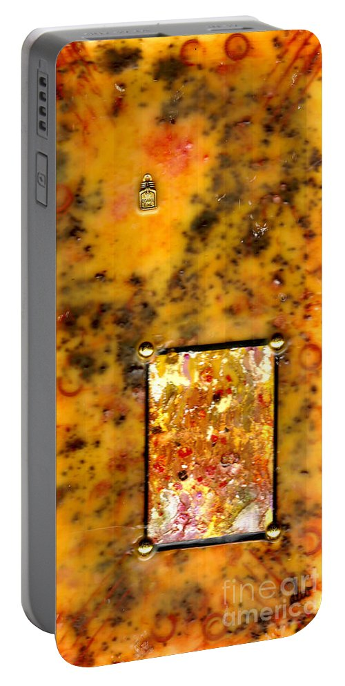 Wood Portable Battery Charger featuring the mixed media Crumpets With My Coffee Please by Angela L Walker