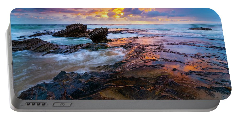California Portable Battery Charger featuring the photograph Crystal Cove by Radek Hofman