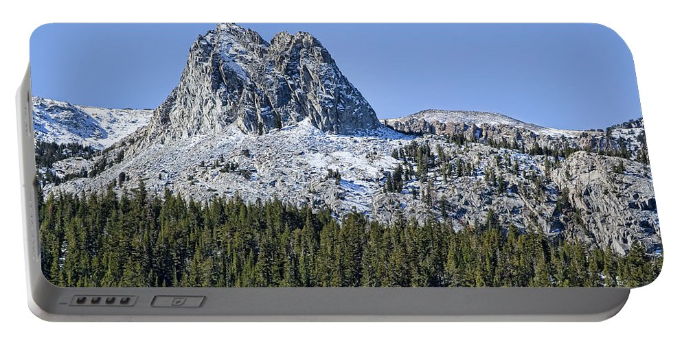 Mountain Portable Battery Charger featuring the photograph Crystal Crag by Kelley King