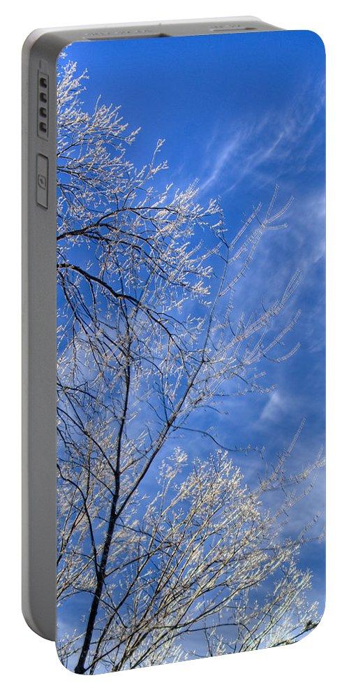 Crystalline Portable Battery Charger featuring the photograph Crystalline Sky by Douglas Barnett