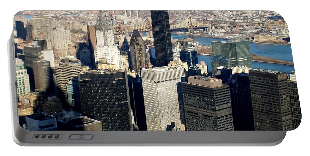 Crystler Building Portable Battery Charger featuring the photograph Crystler Building 2 by Anita Burgermeister