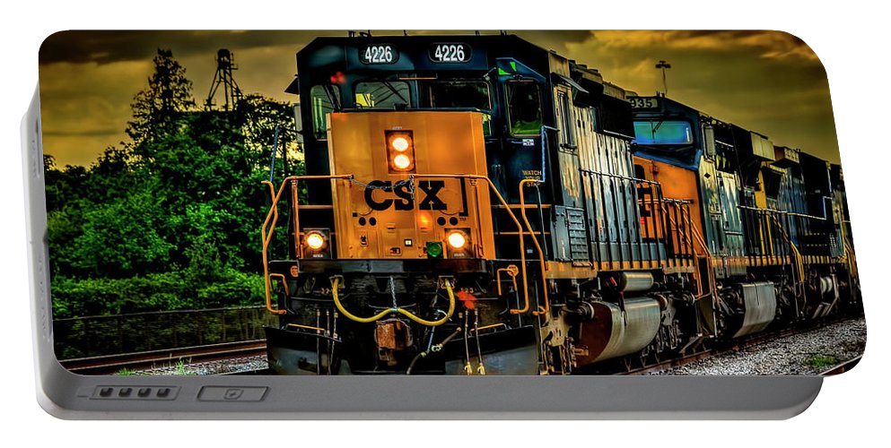 Csx Portable Battery Charger featuring the photograph Csx 4226 by Marvin Spates