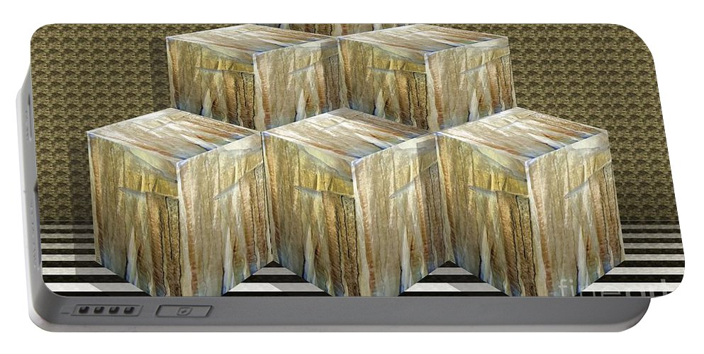 Cubes Portable Battery Charger featuring the digital art Cubism by Ron Bissett