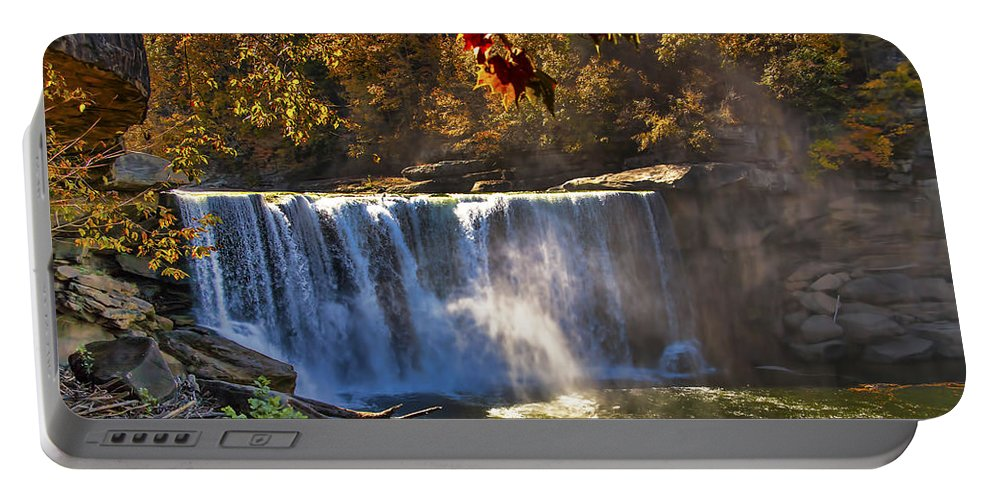 Kentucky Portable Battery Charger featuring the photograph Cumberland Falls by Mark Fuge