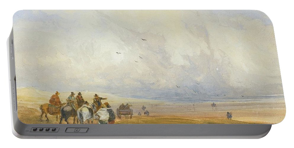 David Cox Portable Battery Charger featuring the painting Cumbria by MotionAge Designs