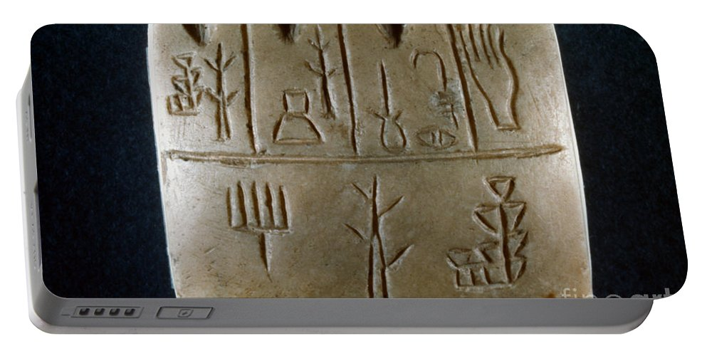3rd Century B.c. Portable Battery Charger featuring the photograph Cuneiform by Granger