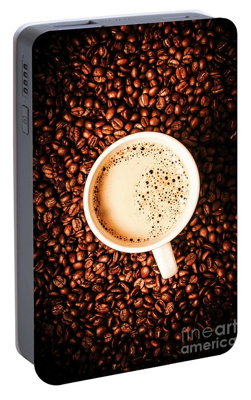 Coffee Portable Battery Charger featuring the photograph Cup And The Coffee Store by Jorgo Photography - Wall Art Gallery