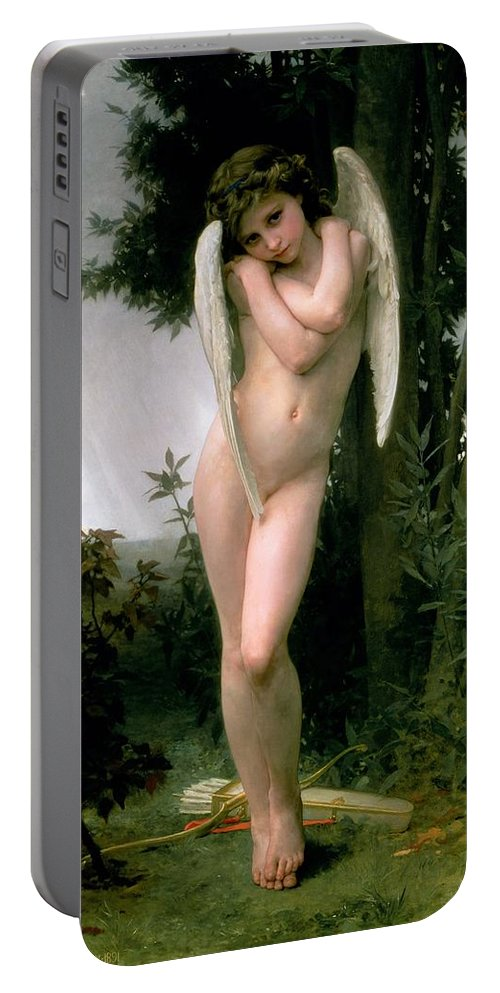 William Adolphe Bouguereau Portable Battery Charger featuring the painting Cupidon by William Adolphe Bouguereau