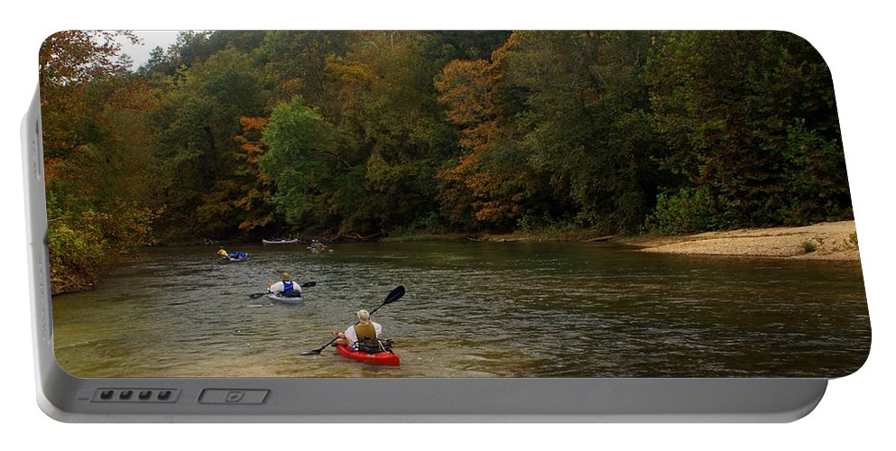 Current River Portable Battery Charger featuring the photograph Current River 3 by Marty Koch