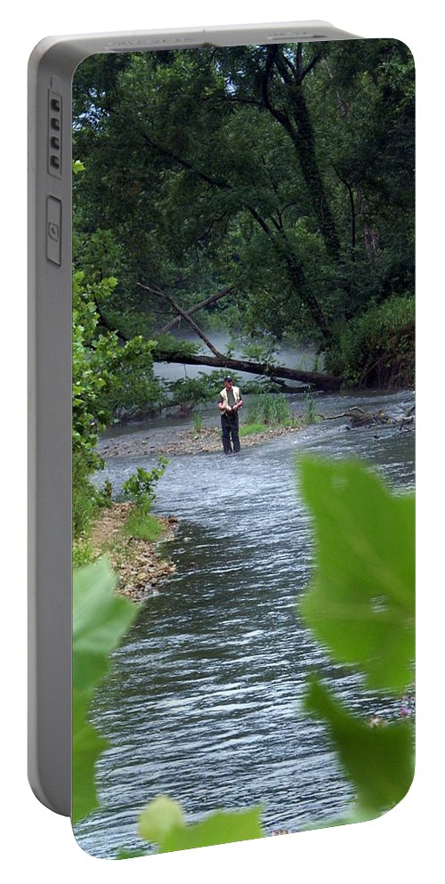 Current River Portable Battery Charger featuring the photograph Current River 5 by Marty Koch